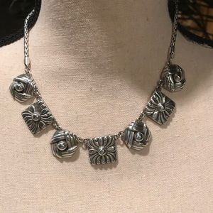Brighton silver statement necklace 16-18""
